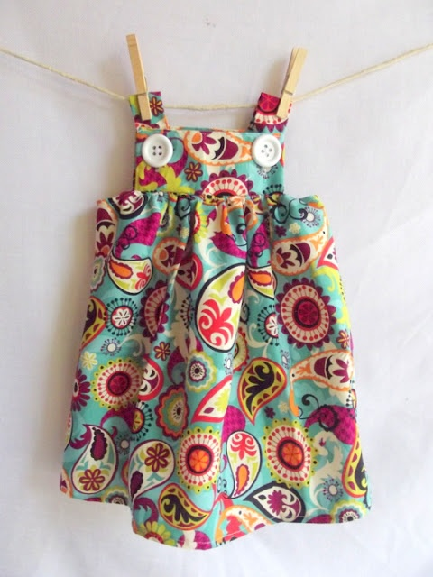 Morning by Morning Productions: Button Baby Dress full pattern measurements NB-5T