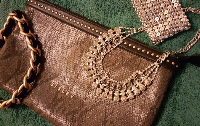 L'italiano bag sisley necklace bracelet  swarowsky accessories fashion details