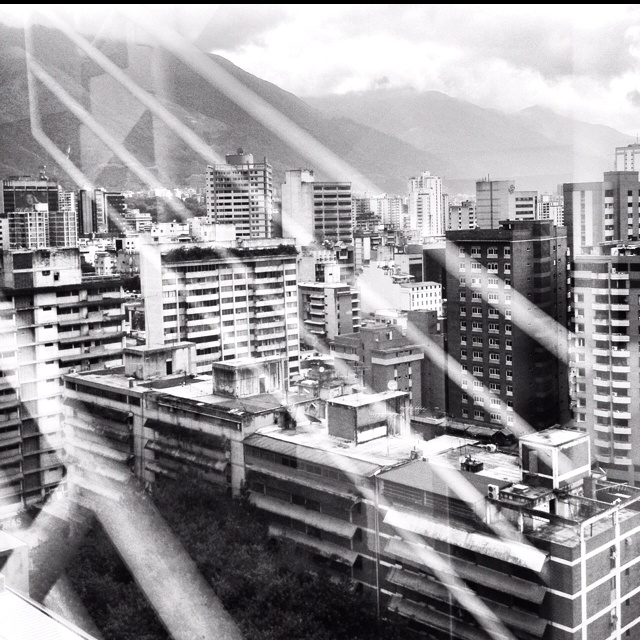Caracas, black and white.