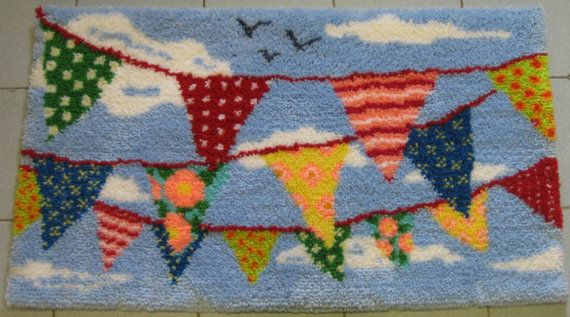 Bright Bunting Latch Hook Rug Kit Large by UtterlyHookedDesigns, £94.95
