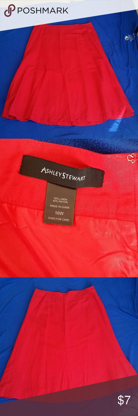 Ashley Stewart Red Skirt Red Ashley Stewart Skirt Ashley Stewart Skirts Maxi