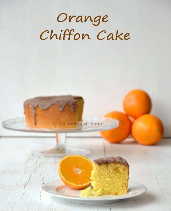 Orange chiffon cake - torta all'arancia senza burro e con tanta vitamina C