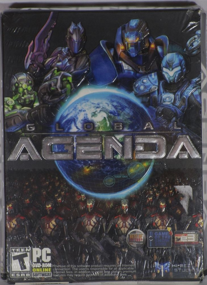 Global Agenda PC 2010 DVD Windows 7 XP Vista Hi-Rez Studios Multiplayer NEW