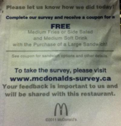 Surveys for manufacturer coupons