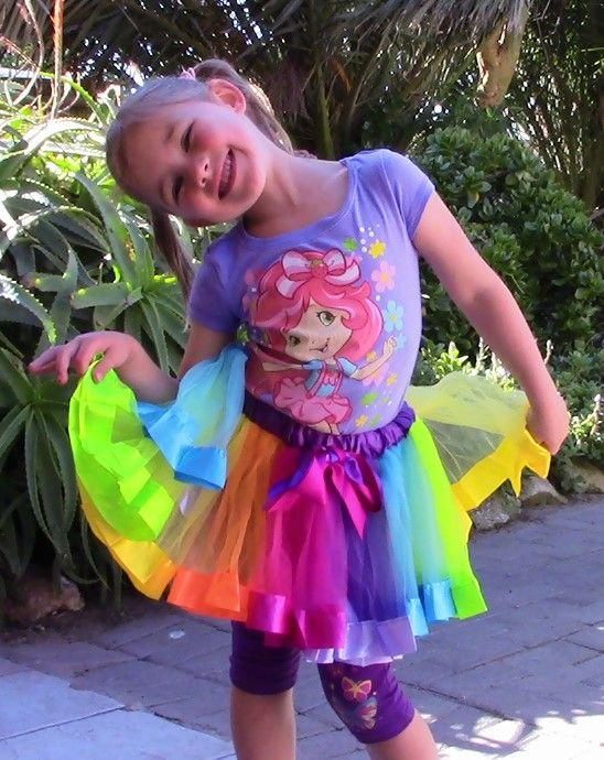 Wearing Rainbow Tutu For Girls
