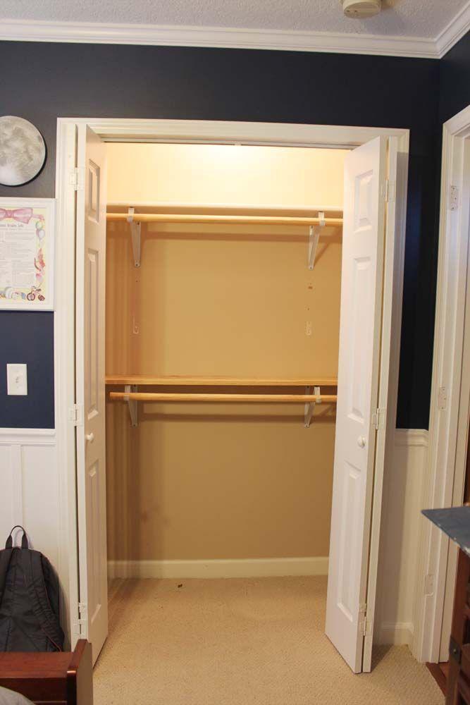 Our Under 100 Closet System Ikea Hack Closet Rod
