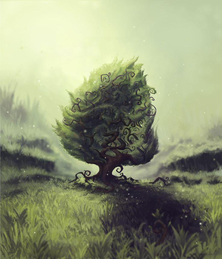 "The ""Baum"" Tree  By Dom Littler (A Fox Wot I Drew)  #Baum #Gamedev #Indie Game #Video Games #Art #Illustration #Design #Trees"