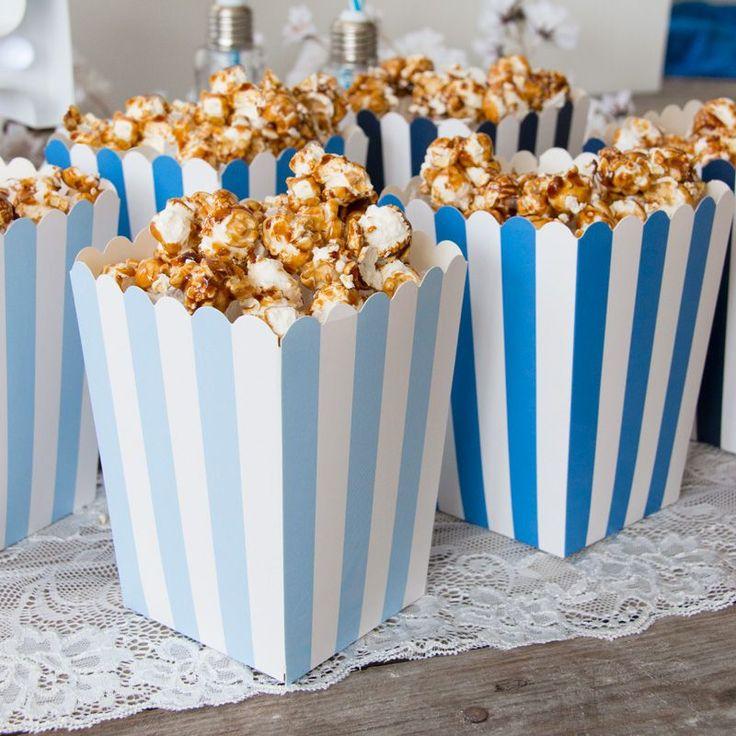 Bestellen Sie Candy Bar Popcorn Bags als 6er Set in blau!   – Candy Bar | Hochzeit
