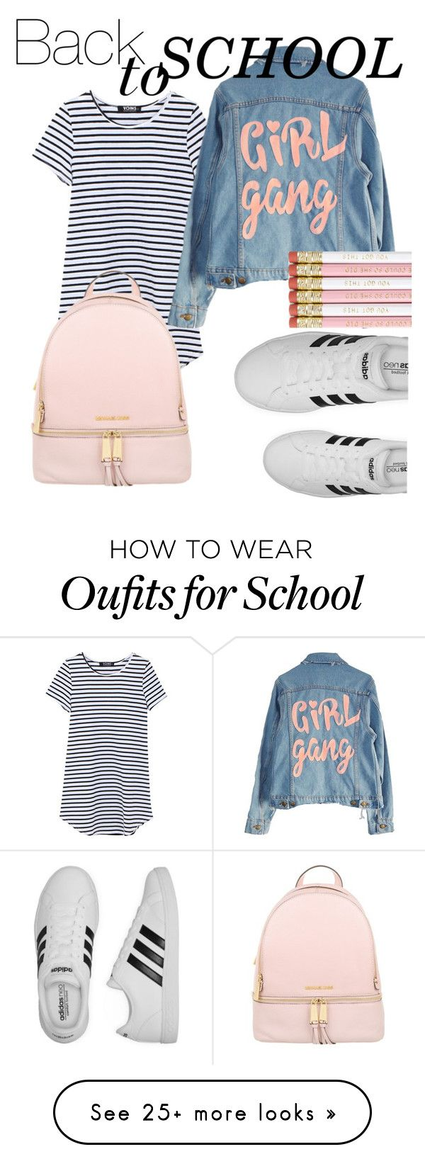 """Back to school."" by sweetlysarita on Polyvore featuring High Heels Suicide, adidas and Michael Kors"