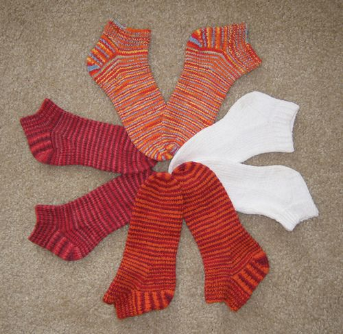 Ravelry: fixation ankle socks for 2 circulars pattern by Sarah Keller