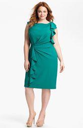 Adrianna Papell Ruffled Sheath Dress (Plus)