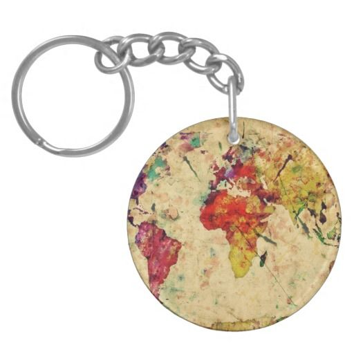 89 best world map 4 xtina images on pinterest world maps vintage world map keychain sciox Images