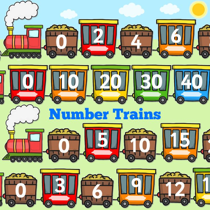 Number Trains! Counting In 2s, 3s, 5s And 10s! Perfect