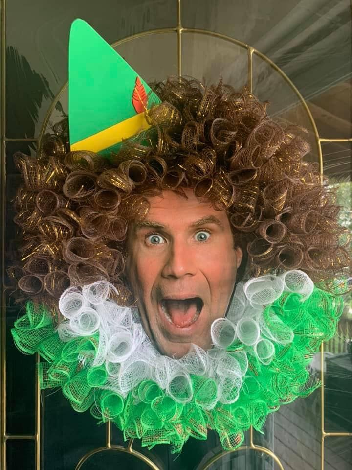 Will Ferrell Christmas 2020 Will Ferrell Christmas Wreath in 2020 | Elf christmas decorations