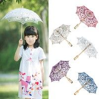 Wish | 15cm Embroidered Lace Parasol Umbrella For Wedding Bridal Party Decoration