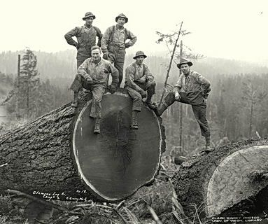 No OSHA back then. Real men tame the wild.
