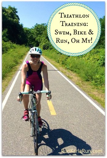 """Swimming and biking and running, oh my! Sprint triathlon training means more workouts, as """"Run, Karla, Run!"""" learns gearing up for two sprint triathlons."""