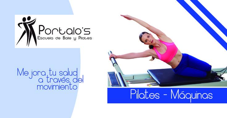 Diseño sencillo para escuela que busca publicitar sus clases de pilates.