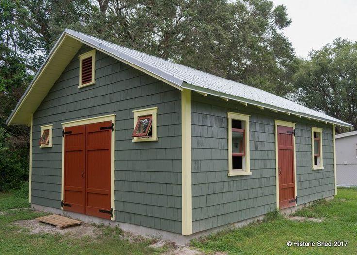 shingle workshop shed historic shed florida