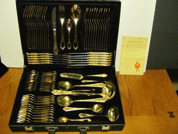 Bestecke Solingen SBS W.Germany Wien 70 Pc by MamabirdsVintage, $390.00