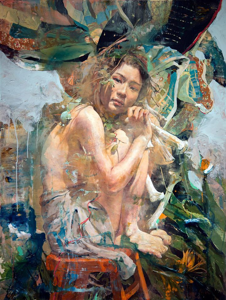 Not understand Asian canvas foil art that interfere