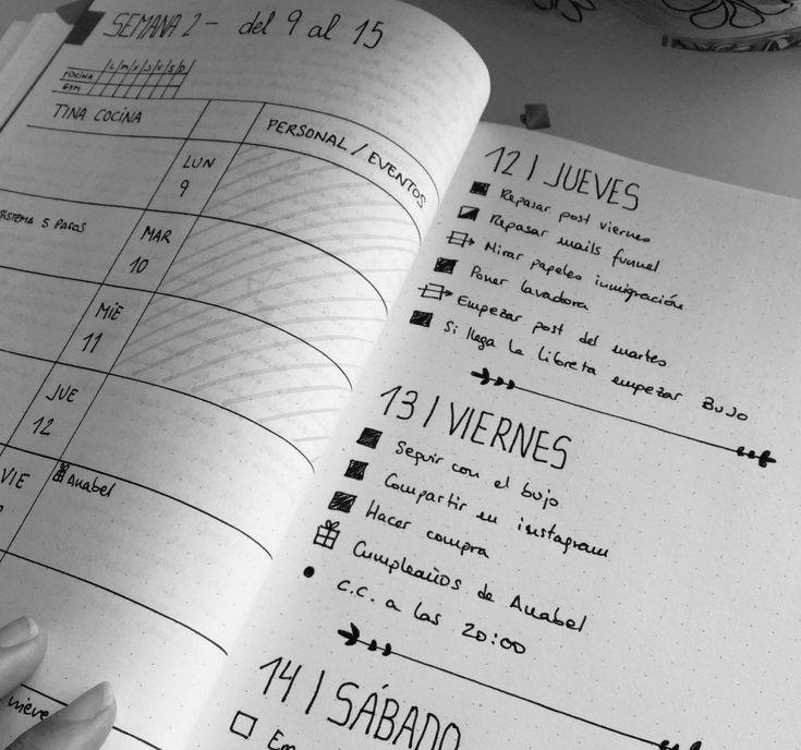 Ejemplo de bullet journal sencillo Journal Español, Bujo, Journaling, Notes, Lettering, Keys, Homeschool, Scrap, Doodles