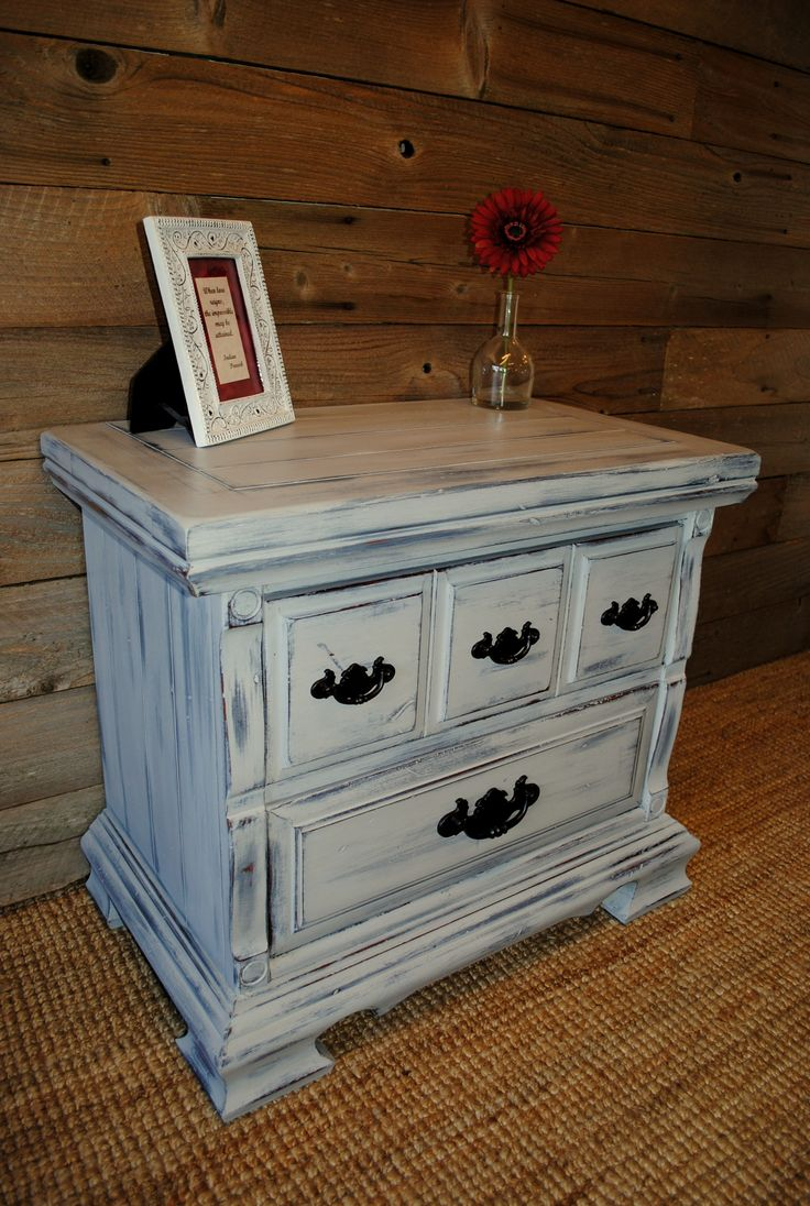 Nightstand Painted In Layers W Annie Sloan Paris Gray