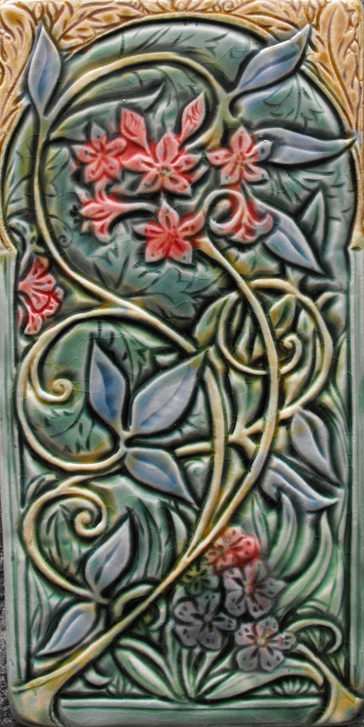 375 best craftsman tiles images on pinterest art tiles tile art art nouveau tiles dailygadgetfo Gallery