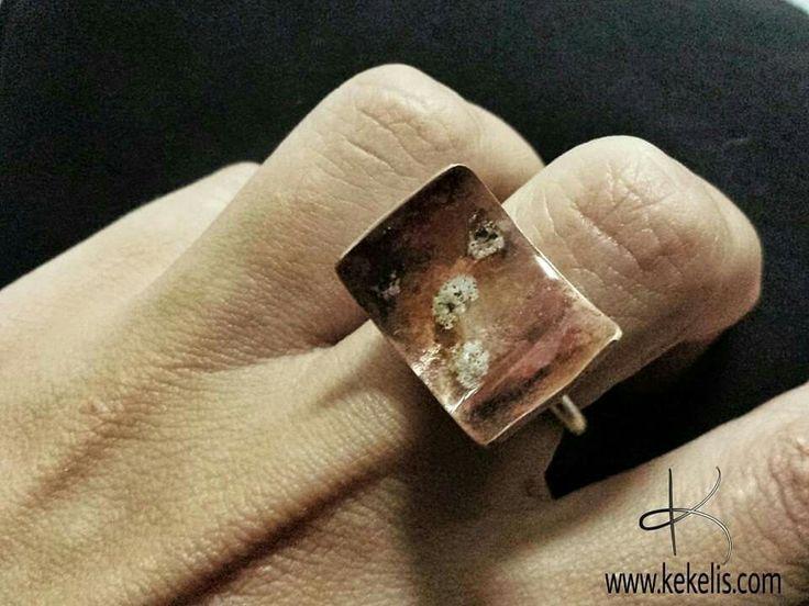 New ring! info@kekelis.com  #joyeria #hechoamano #joyeriaartesanal #anillosunicos #patina #artandscience