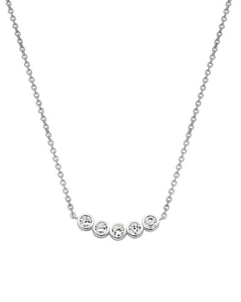 Ti Sento 3782 White Zirconia 16.5 In. Necklace Available at: www.always-forever.com