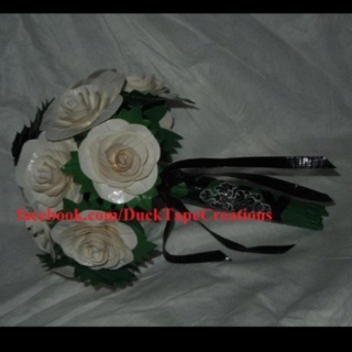 Wedding Bouquet made from Duct Tape :-)