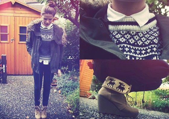 Scandinavian girl: Reindeer Shoes, In Style, Fall Style, Sweaters Jackets, Scandinavian Style, Adorable Sweaters, Style Pinboard, Scandinavia Girls, Scandinavian Girls