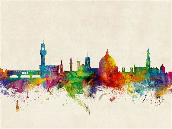 Florence Skyline Florence Italy Cityscape Art Print by artPause