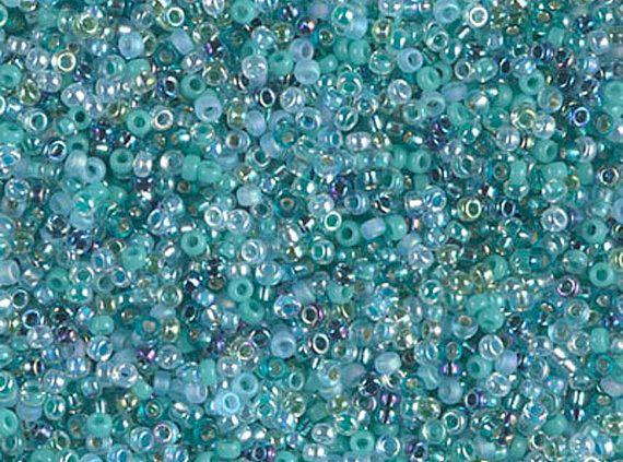 Miyuki 15/0 Round Seed Beads Mix  15-MIX-14  Touch by TorallyBeads