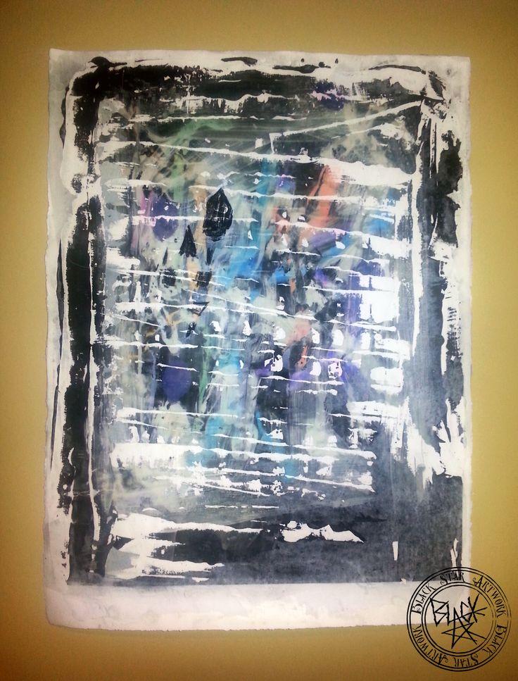 """3rd Degree of Separation"" Mixed media on paper 32"" x 22"" Black Star Artwork by Leonard Walsh  www.facebook.com/BlackStarArtwork http://bit.ly/1bCN2xI"