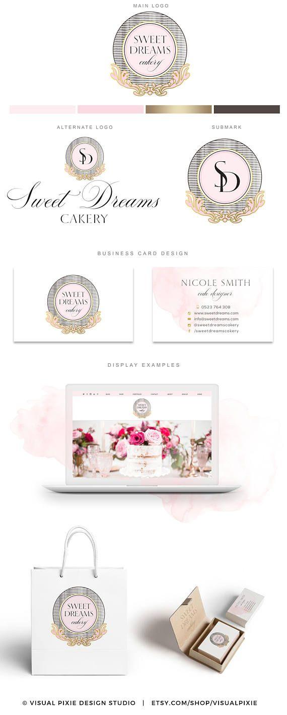 PREMIUM marca paquete  lujo panadería Logo Cakery  tarjeta