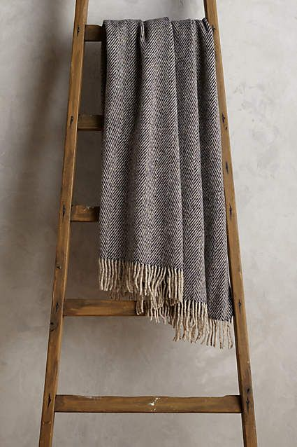 Wool Herringbone Throw - anthropologie.com