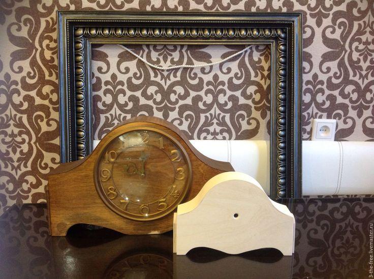 Купить Заготовка объемная Каминные Настольные часы - часы интерьерные, оптом, Декупаж, объемный