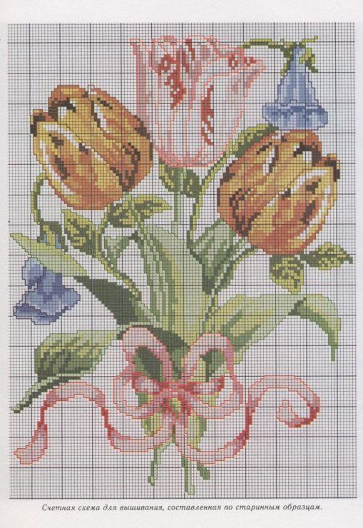 Gallery.ru / Фото #1 - Букет тюльпанов и вьюнков - Kalla