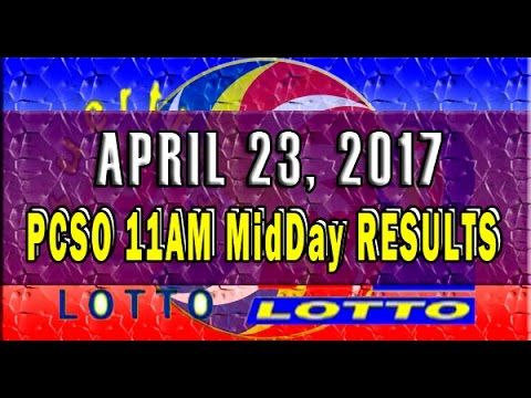 PCSO MidDay - 11AM Results April 23, 2017 (SWERTRES & EZ2)