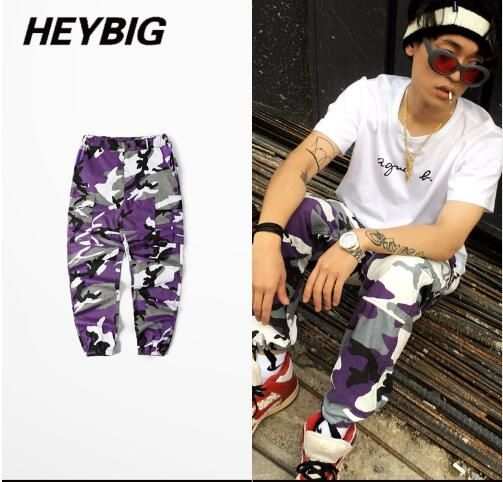 2017 SUMMER NEW CAMO Men Pants Cool Army hot joggers Camouflage 5 colors Dazzling colorful Trousers workout field Bottoms