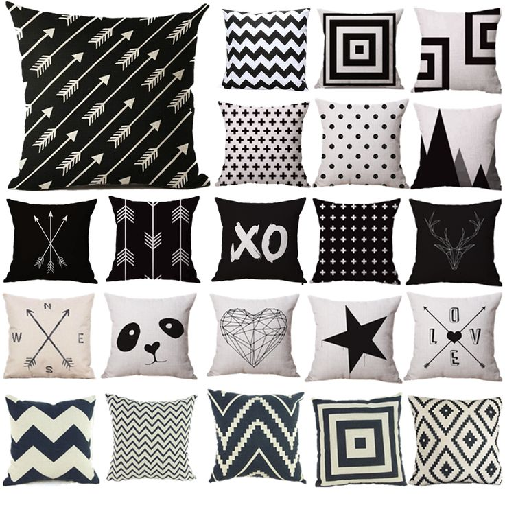 Pillow Case Black and White Pattern Pillowcase Cotton Linen Printed 18x18 Inches Geometry Euro Pillow Covers Free Shipping $6.14   => Save up to 60% and Free Shipping => Order Now! #fashion #woman #shop #diy  http://www.beddingonline.net/product/pillow-case-black-and-white-pattern-pillowcase-cotton-linen-printed-18x18-inches-geometry-euro-pillow-covers-free-shipping/