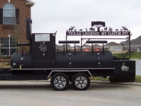 Meet The Texas Legend - so big two adults can stand up in the upright smoker. Now thats a grill!