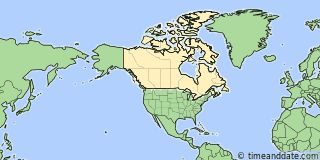 Map showing the location of Thunder Bay. Click map to see the location on our worldwide Time Zone Map.