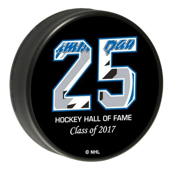 Dave Andreychuk Limited Edition 2017 HHOF Puck - Tampa Bay Sports