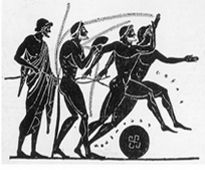 The Olympic victor received his first awards immediately after the competition. A Greek judge would place a palm branch in his hands, while the spectators cheered and threw flowers to him. Red ribbons were tied on his head and hands as a mark of victory. http://www.olympic.org/ancient-olympic-games#