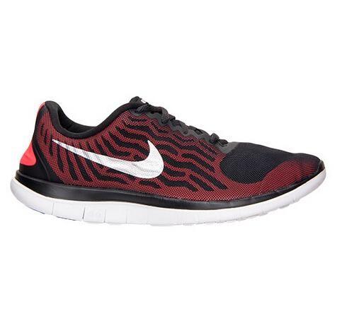 Nike Free 4.0 Nettet Svart Rød Hvit Løpesko 437.19kr