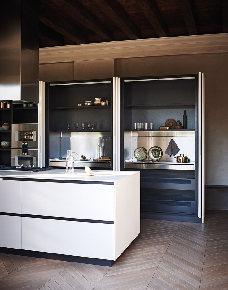 Fitted kitchen with island MAXIMA 2.2 - COMPOSITION 1 by @cesarkitchen design Gian Vittorio Plazzogna