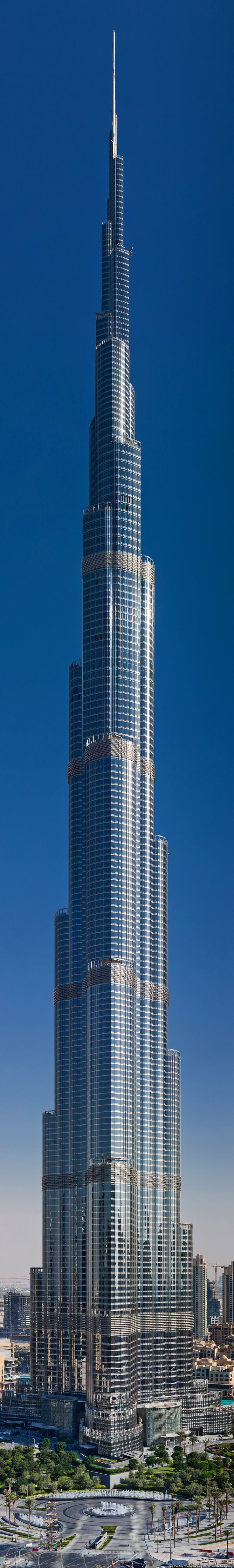 DUBAI | Burj Khalifa (Burj Dubai) | World's Tallest Structure | 828m | 2717ft  (and it is not in the U.S., Honey!)