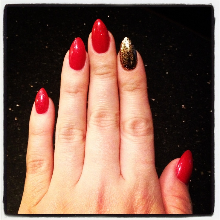 Christmas Nails #nails#pointednails#rednails